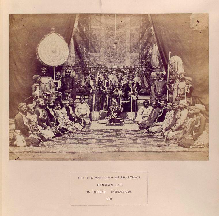 H H  Maharajah of Bhurtpoor, Hindu Jat, in Bustar, Rajputana