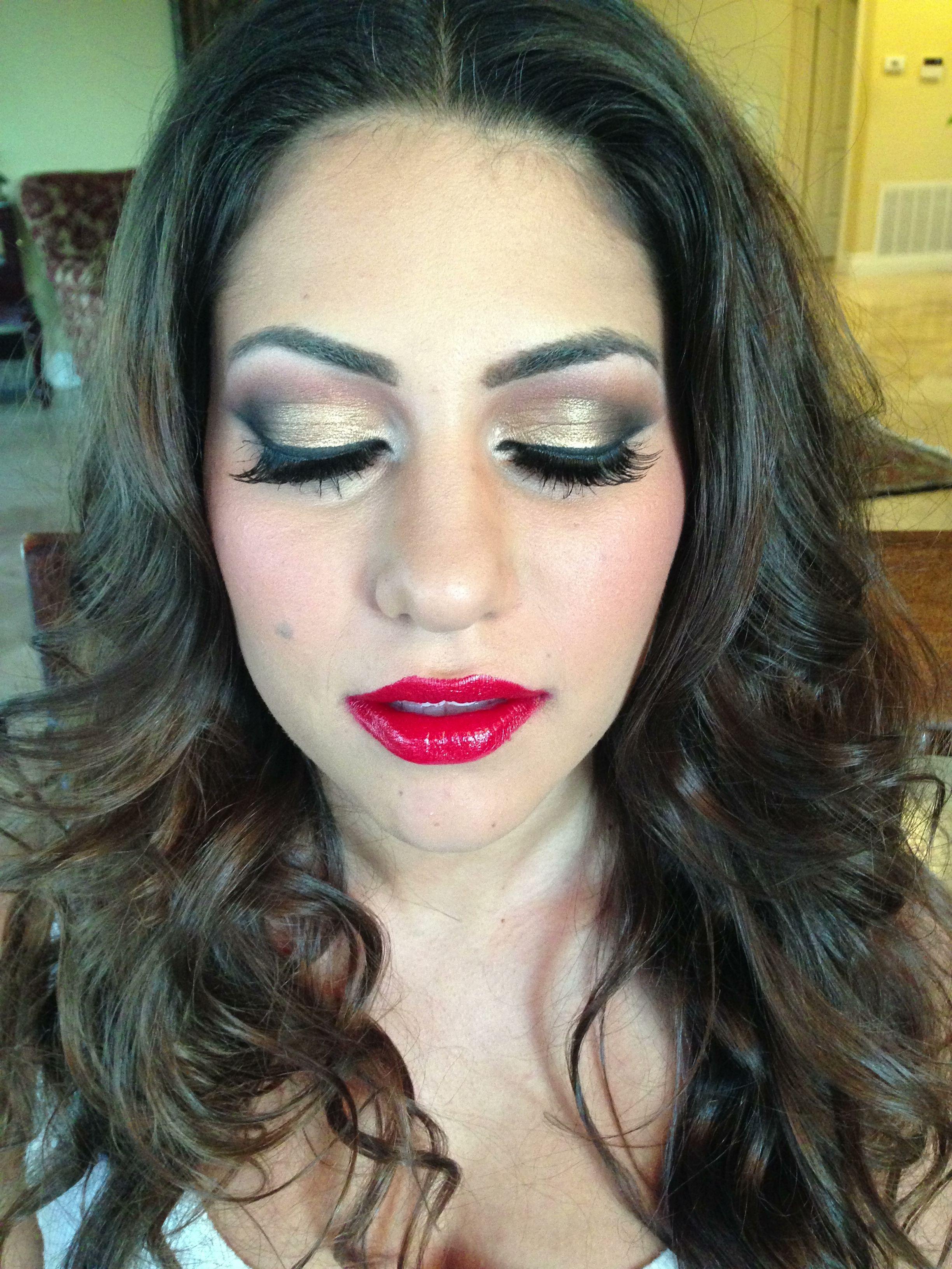 Hollywood glam - make up by Krystal Hanna