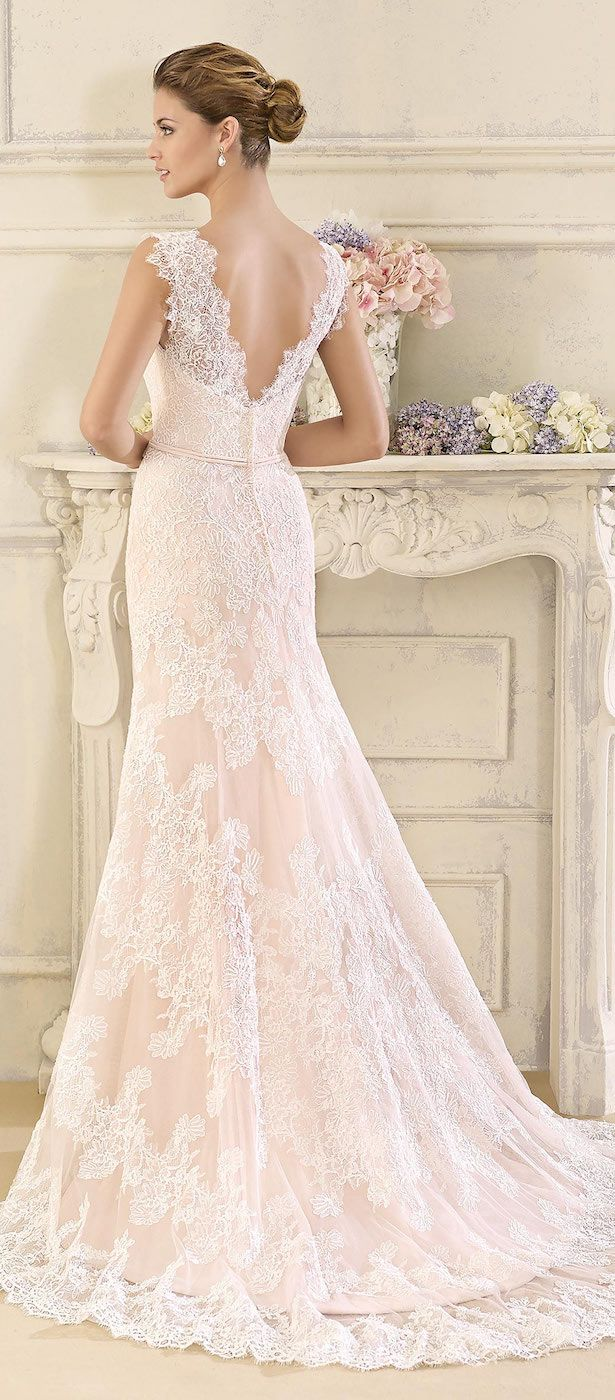 Blush Lace Ed Wedding Dress By Fara Sposa 2017 Bridal Collection