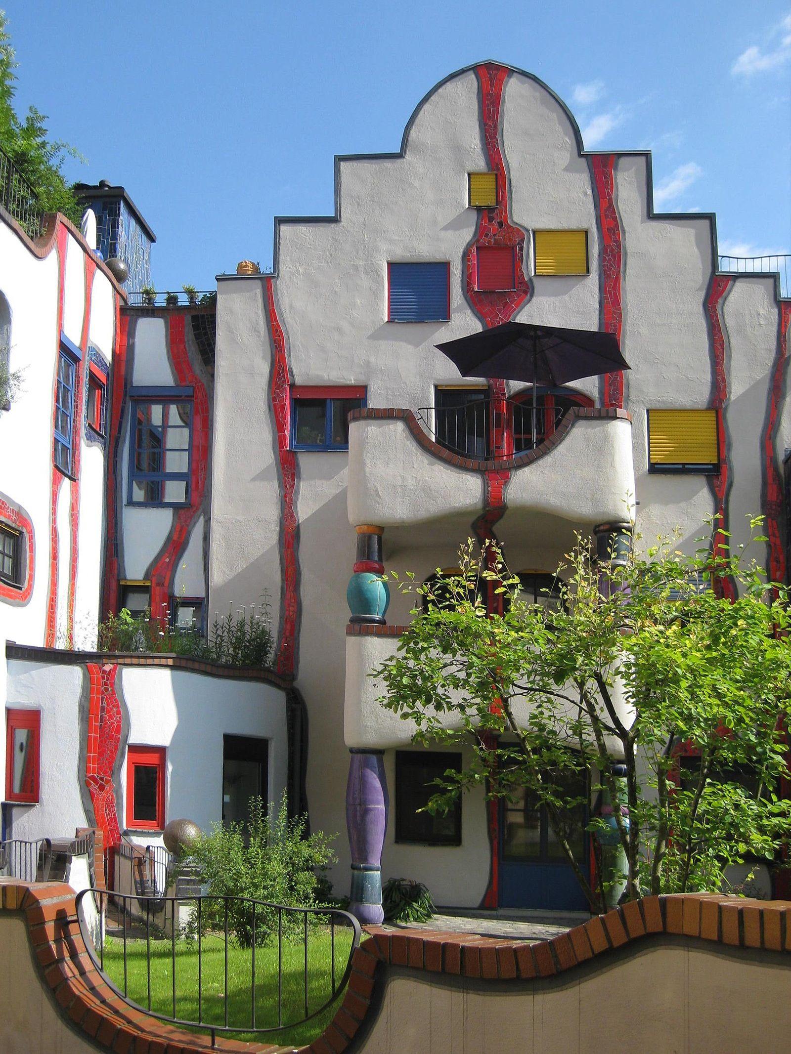 Hundertwasser haus Vienna, Austria. Hundertwasser