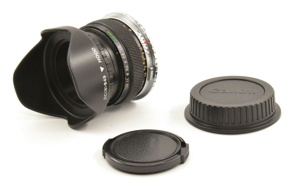 Olympus F. Zuiko Auto-S 50mm F1.8 Lens For Canon EF Mount! Good Condition #Olympus