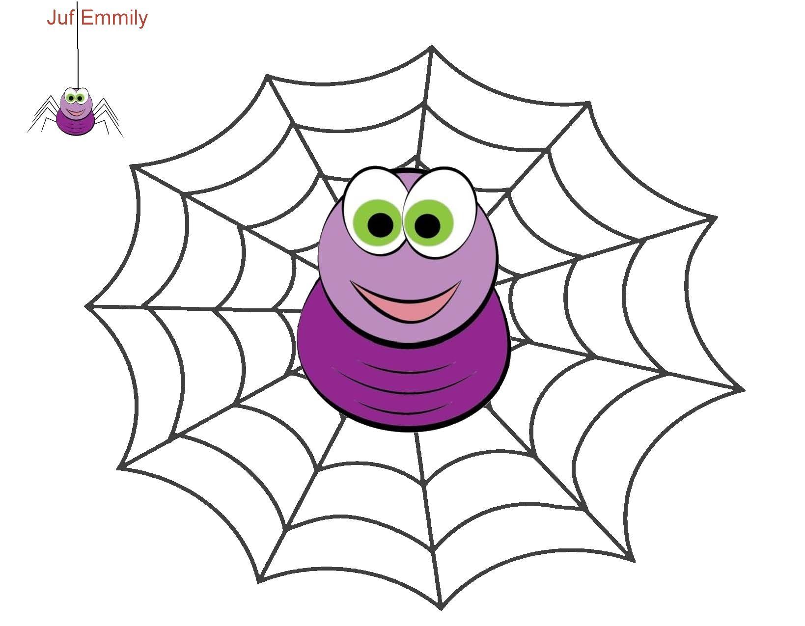 plasticinekaart kleikaart thema spinnen juf emmily