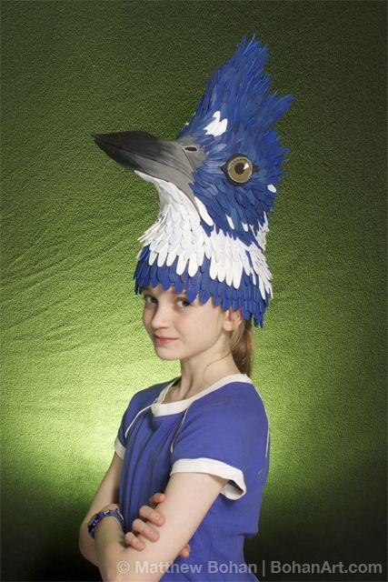 Belted Kingfisher Hat Sheet Craft Foam And Acrylic Paint