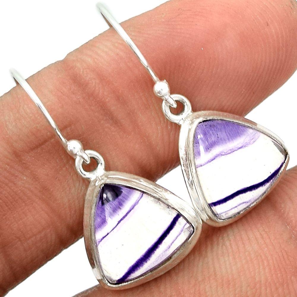 Multi Fluorite 925 Sterling Silver Earrings Jewelry MFCE23 - JJDesignerJewelry