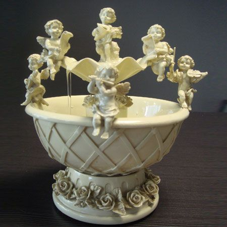 Indoor Tabletop Water Fountains with Cupid Angel Figurines | Gifts ...