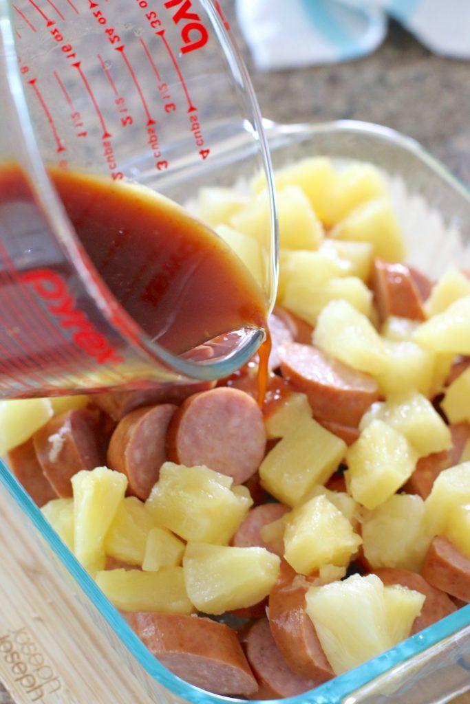 Glazed Kielbasa Bites #appetizersforparty