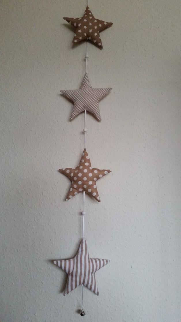Girlande,Dekogirlande,Holz Stern,Tannenbaum Metall,Kette,Neu Weihnachten,Holz