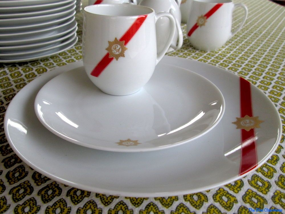 Vintage 1960s MCM Rosenthal China - TWA Airlines - 3 Pc sets Plates