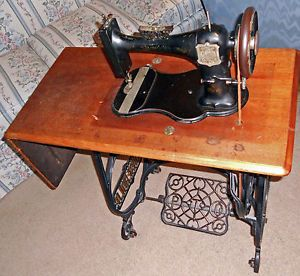 Marvelous Vintage Household Brand Treadle Sewing Machine Cast Iron Home Interior And Landscaping Spoatsignezvosmurscom