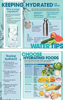 Keeping Hydrated For Adults Handouts Food Infographic Hydrating Foods Nutrition And Dietetics