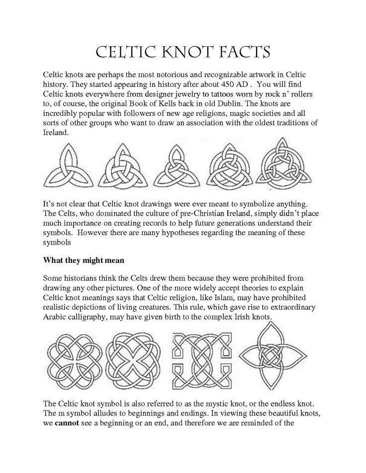 Celtic Symbols And Their Meanings For Tattoos Celtic Designs And