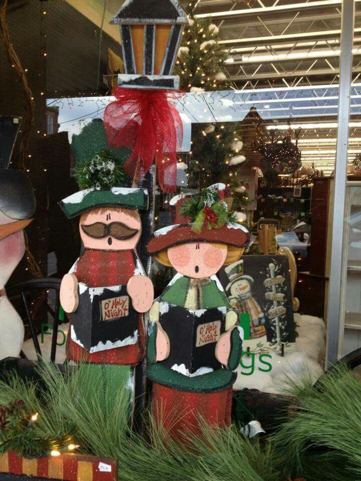 Tall wood Christmas craft decorations Christmas carolers Crafts
