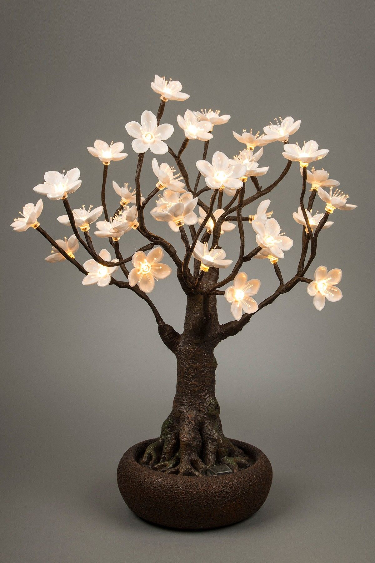 Battery Operated Bonsai Tree With 36 Warm White Led Lights By Gerson