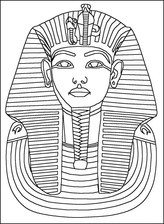king tut coloring page # 1