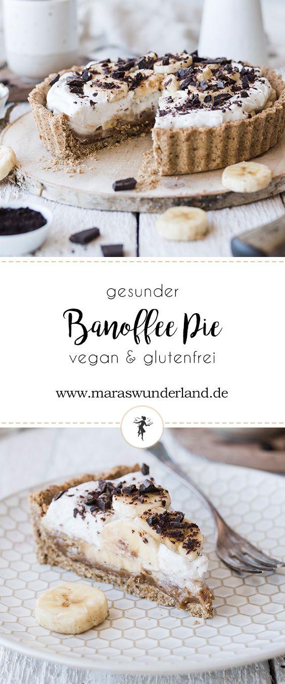 Banoffee Pie - gesund, vegan, glutenfrei • Maras Wunderland