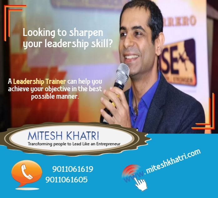 Leadership Trainer - Mitesh Khatri is an extremely proficient and credible leadership trainer, who can hone your development skill and help you achieve unbelievable results. The 3 most focal parts that he touches upon are the self leadership training, people leadership training and business leadership training. By joining Mitesh Khatri, you can be rest assured to gain the ability of a true leader.