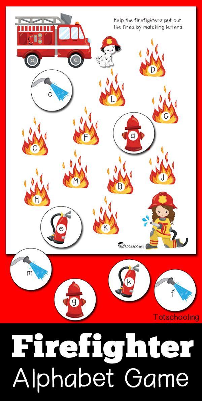 Firefighter Alphabet Game   Community helpers preschool ...