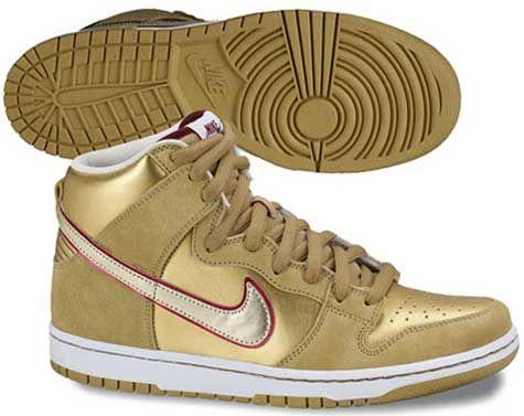 zapatillas nike doradas hombre