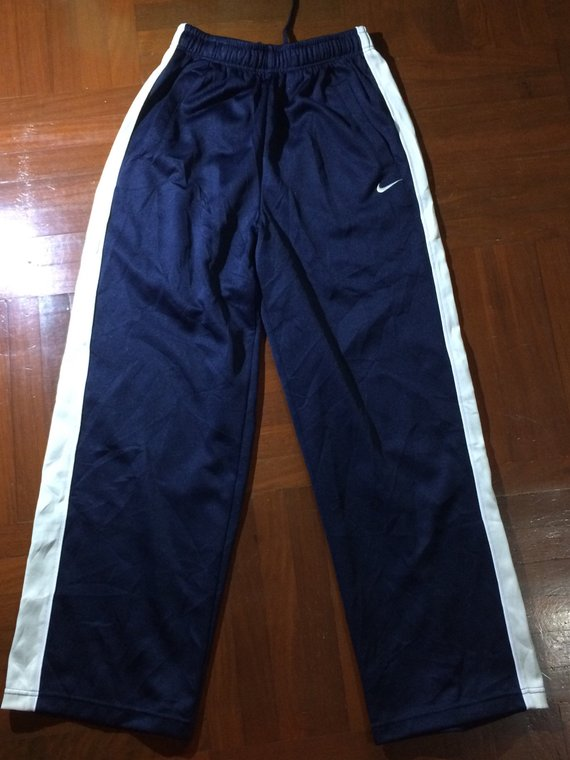 10fe5e7688914 S Mens Vintage 1990s Nike Dark Blue stripe AUTHENTIC Japan Japanese ...