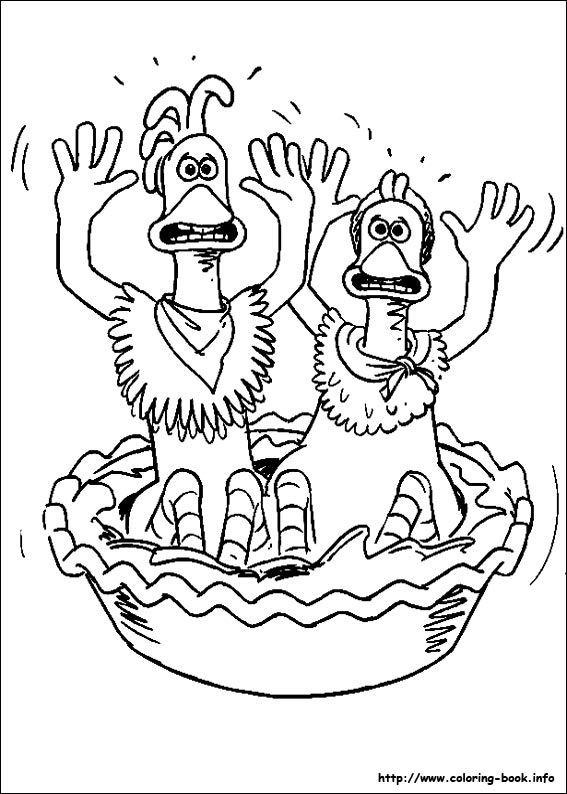 Chicken Run coloring picture Coloring and Activities Pinterest