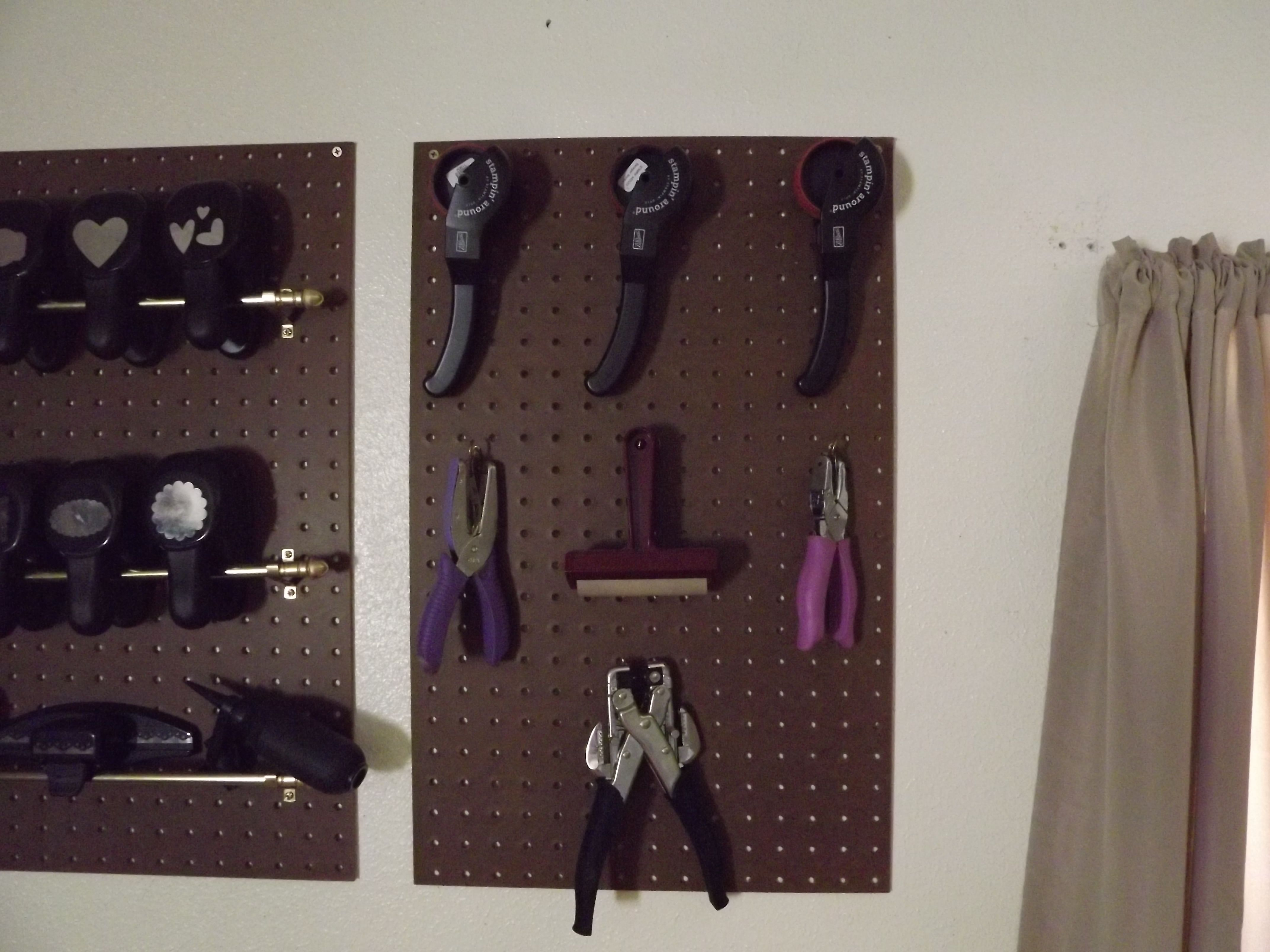 I Got A Peg Board From Lowes And Had Them