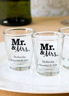 Personalized Shot Gl Wedding Favors Tbrb Info