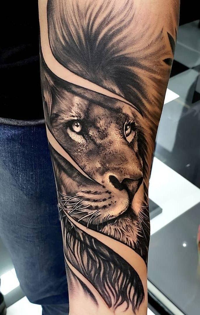 Cool Sleeve Tattoo Ideas For Men 33 Idolover Com Lion Tattoo Sleeves Lion Forearm Tattoos Mens Lion Tattoo