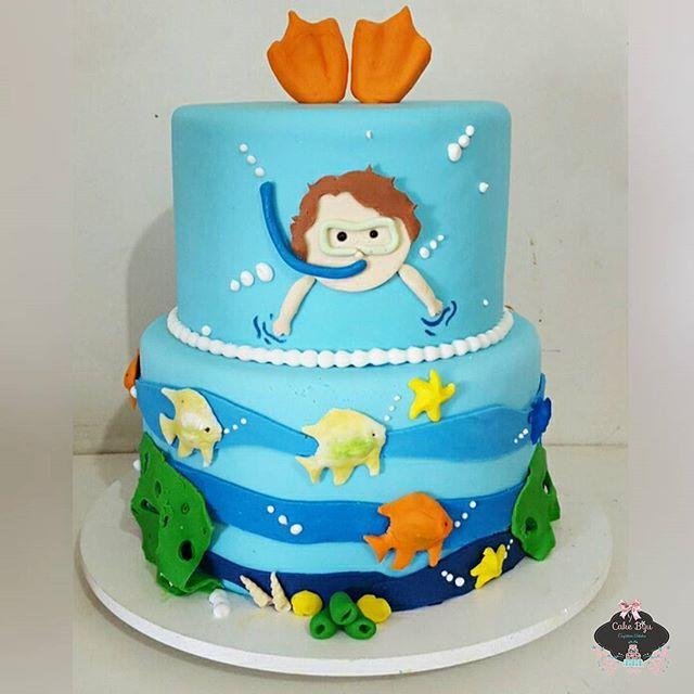 Resultado de imagem para bolo fundo do mar