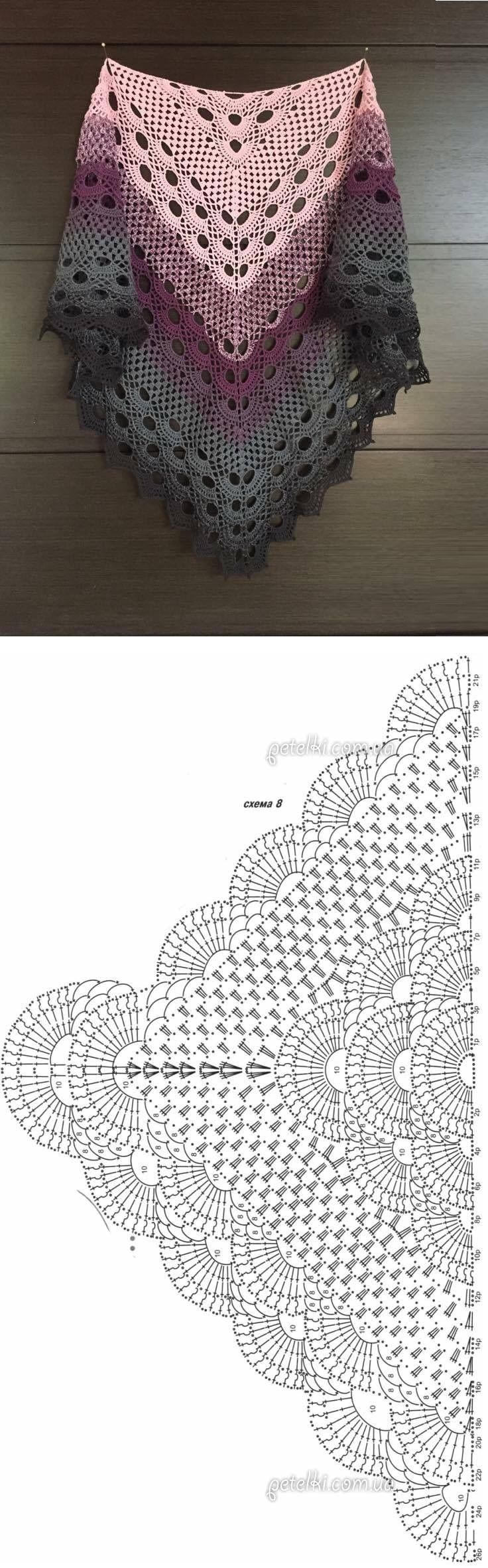Crochet Beautiful Shawl (Sashay Yarn   Tücher, Häkeln und Schultertuch