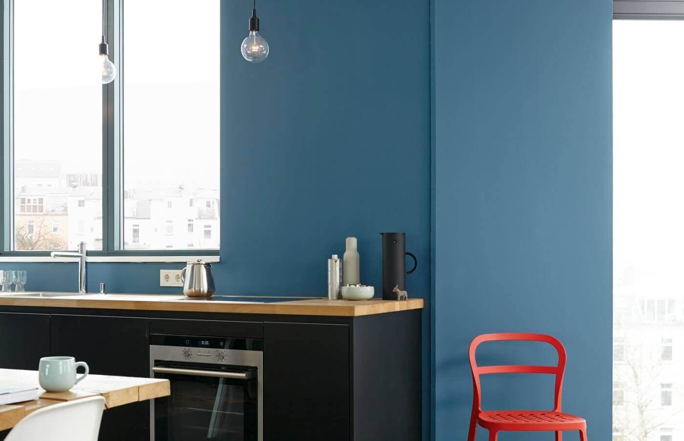 Azurblau in der Küche? Auf jeden Fall! Diese Wandfarbe haut alle von ...