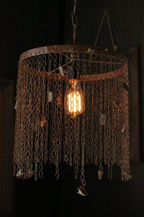 Industrial Cage Pendant Lighting Rustic Chandelier by LightLady