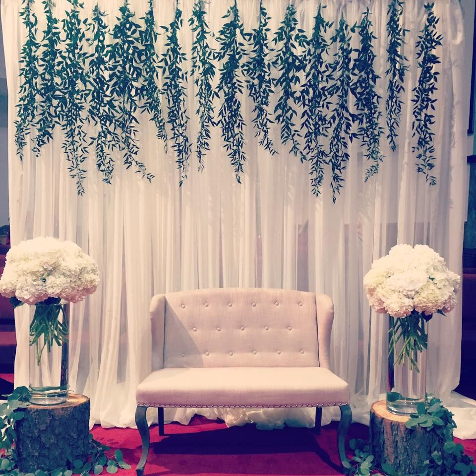 Magical Wedding Backdrop Ideas: Rustic Yet Elegant Backdrop Accented With Greenery
