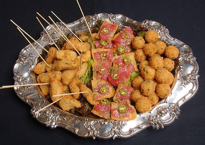 H Orderves On Silver Platter Food Amp Drink Italian