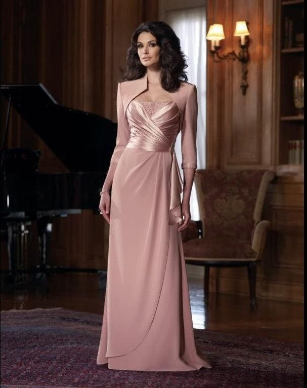 Another classic style of the plus size evening dresses with jackets ...