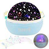Elegant Amazon Angebot Musik Nachtlichter Sunvito ROSE Sternenhimmel Projektor Lampe Aufladbar mit Drehen