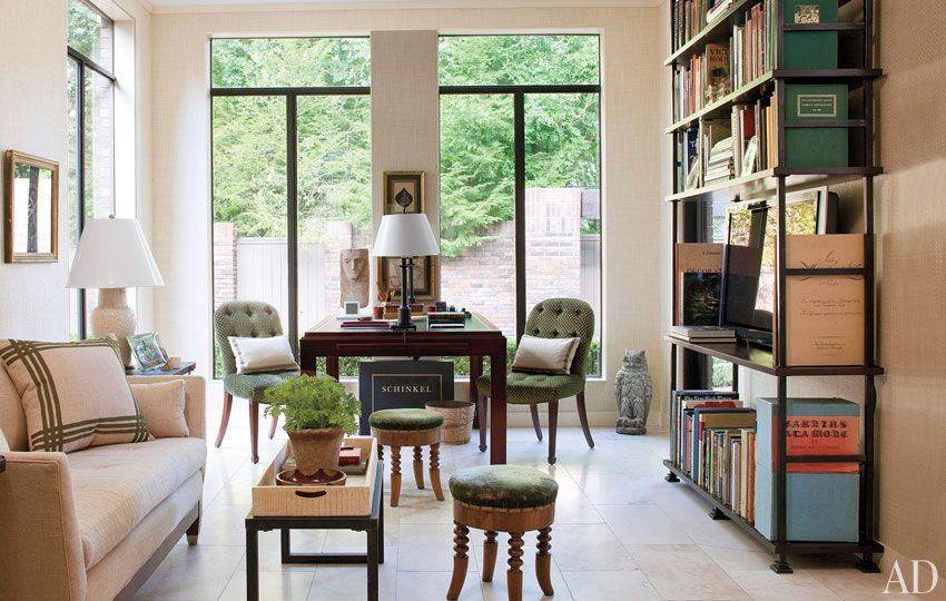 great space, great lighting, love the over-sized books and bookshelf