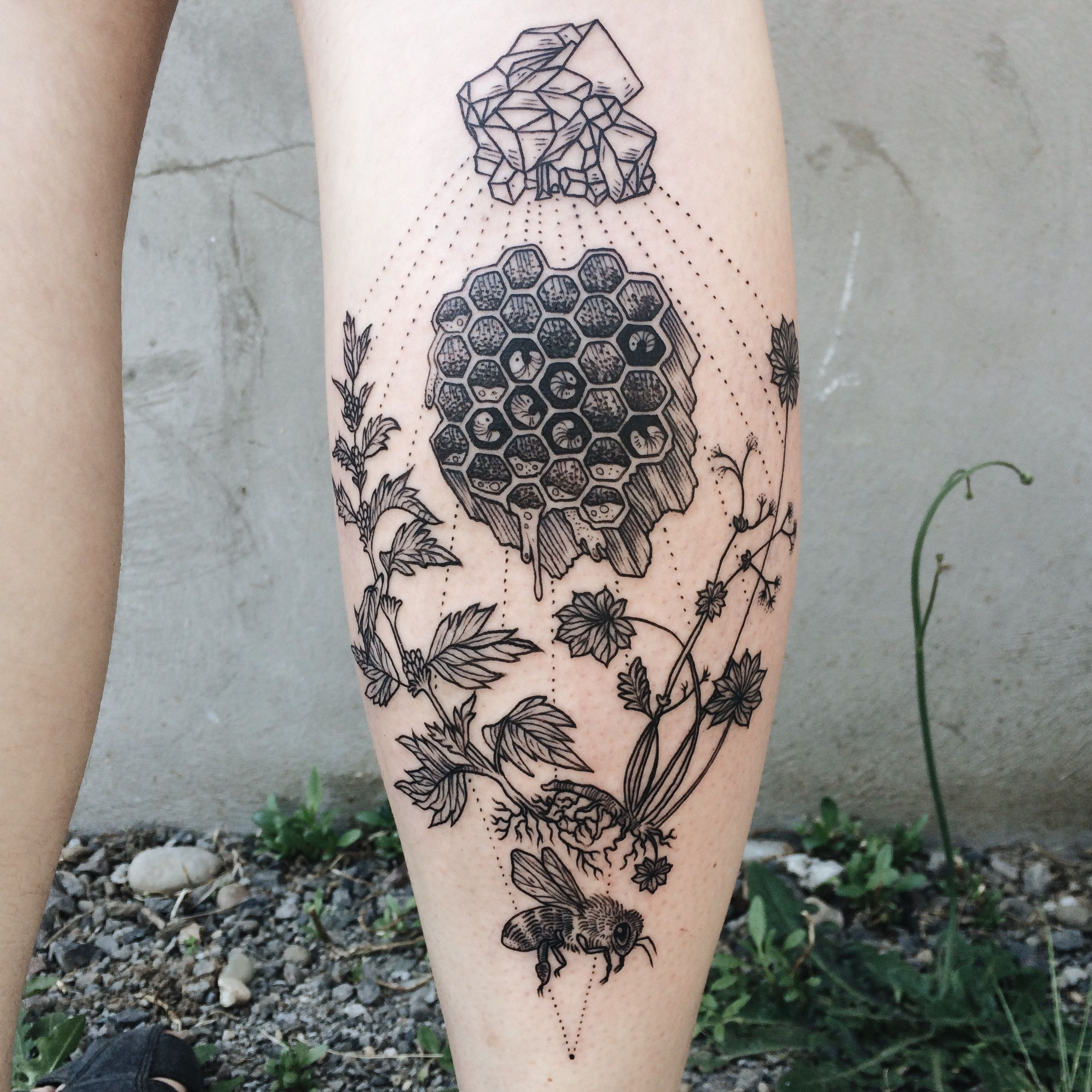 Cactus and triangle for sicily island milan okan uckun tattoo artist pony reinhardt creates delicate collisions of plants animals and elements of space and alchemy in her black line tattoos reminiscent of buycottarizona
