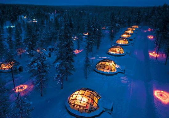 Hotel Kakslauttanen, Finland. Rent A Glass Igloo In Finland To Watch The Northern Lights