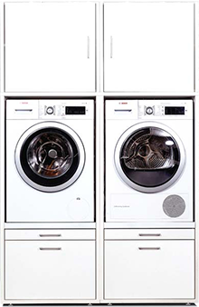 waschmaschinenschrank waschturm hauswirtschaftsraum. Black Bedroom Furniture Sets. Home Design Ideas