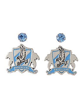 P Post Insertion Earring Set From I Harry Potter With Ravenclaw Crest And Gem Stud Designs Ul Li Base Metals Imported