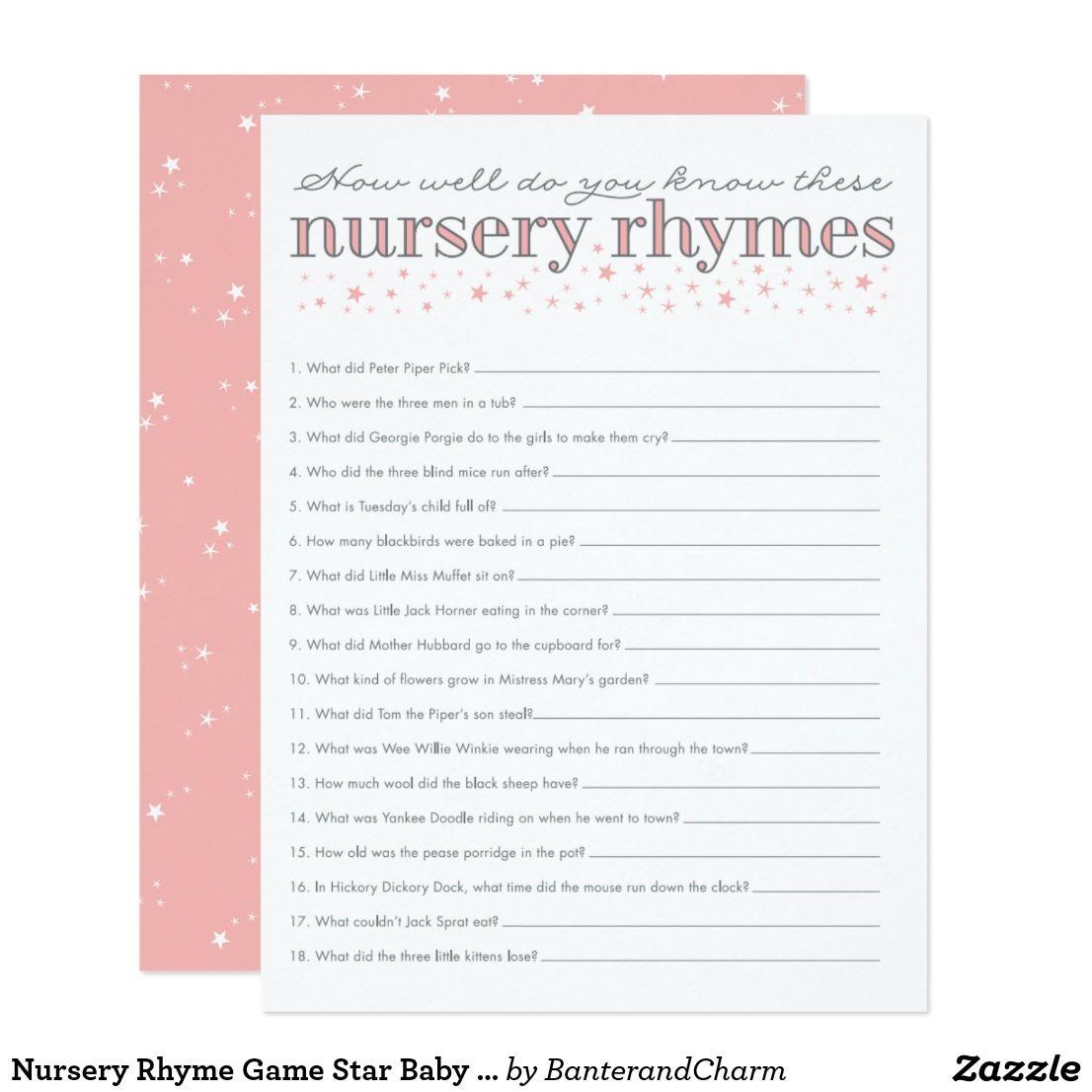 Create Your Own Invitation Zazzle Nursery Rhymes