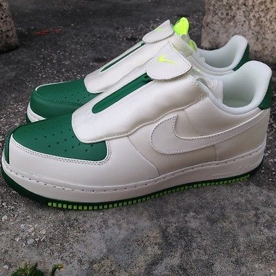new concept 0ced8 e18d7 NIKE AIR FORCE 1 LOW CMFT GP SZ 9.5 GARY PAYTON WHITE GREEN GLOVE 616760-300