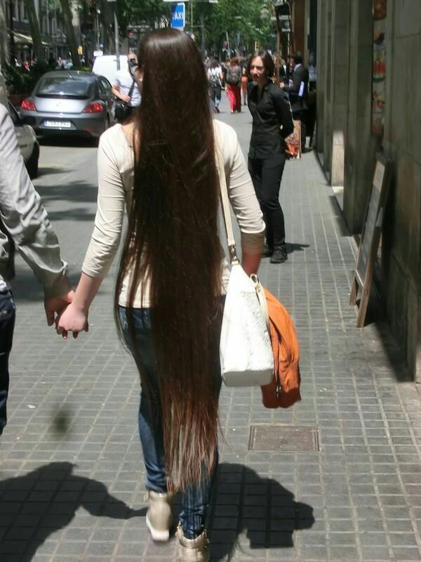 ankle length hair loving long