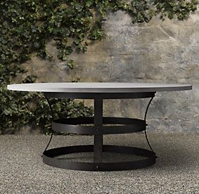 Weathered Concrete Metal Basket Collection (Outdoor Dining CG) | Restoration  Hardware