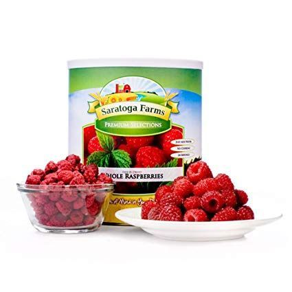 Saratoga Farms Freeze Dried Raspberries, #1 Emergency Food Storage, 22 Total Servings of freeze-dried fruits with a 20-30 Year Shelf-Life in #10 Can (Save Even More with 2,3,4, or 6 Pack) Review #freezedriedraspberries Saratoga Farms Freeze Dried Raspberries, #1 Emergency Food Storage, 22 Total Servings of freeze-dried fruits with a 20-30 Year Shelf-Life in #10 Can (Save Even More with 2,3,4, or 6 Pack) Review #freezedriedraspberries