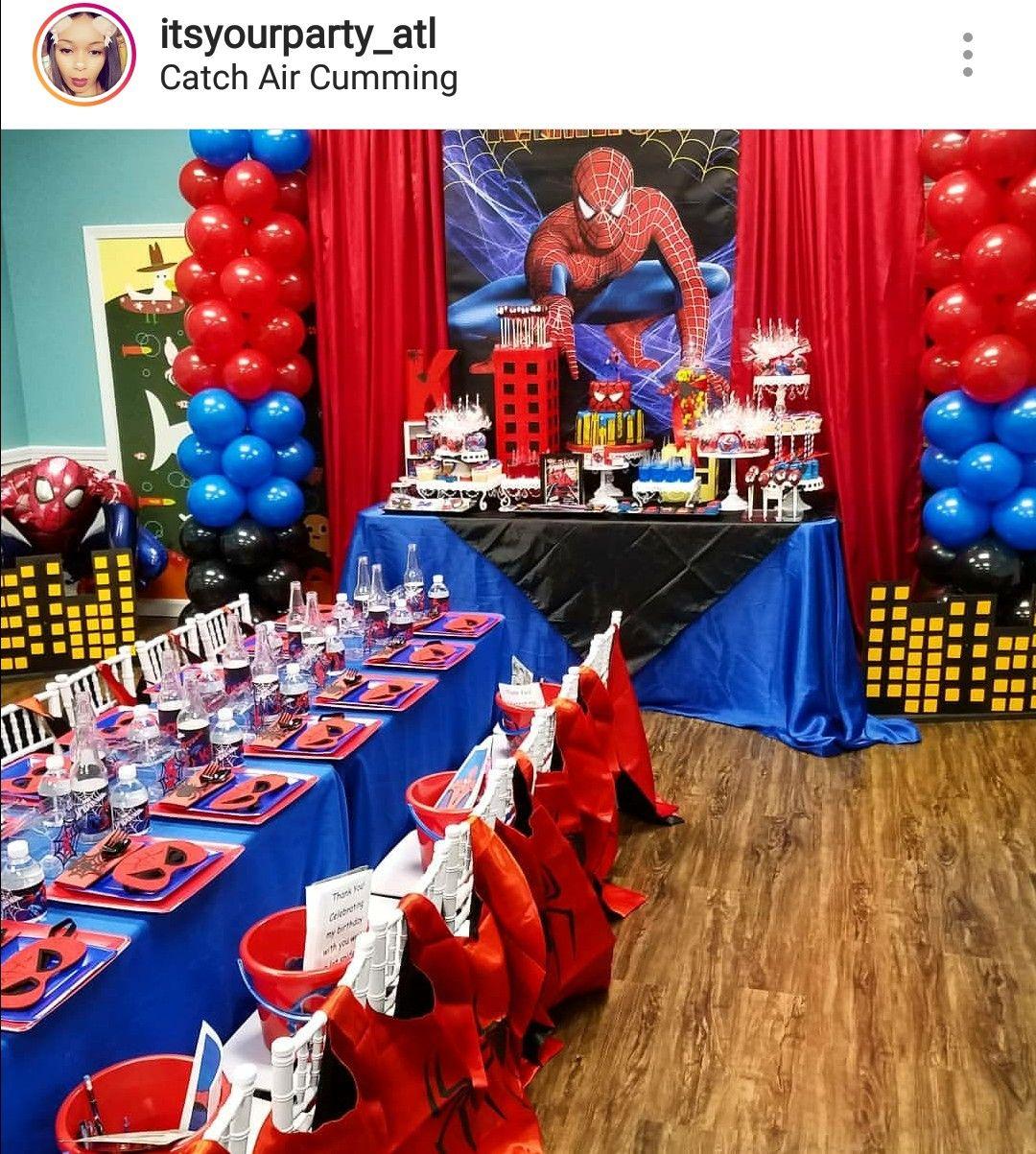 Spider-Man Theme Birthday Party  Spiderman birthday party