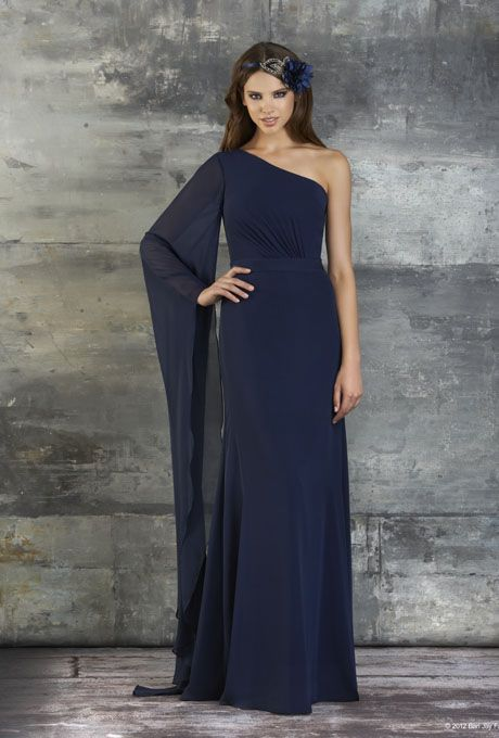 Long Sleeve One Shoulder Bridesmaids Dresses