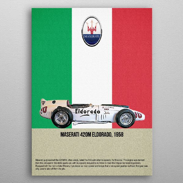 Maserati 420M Eldorado by FARKI15 DESIGN | metal posters - Displate | Displate thumbnail