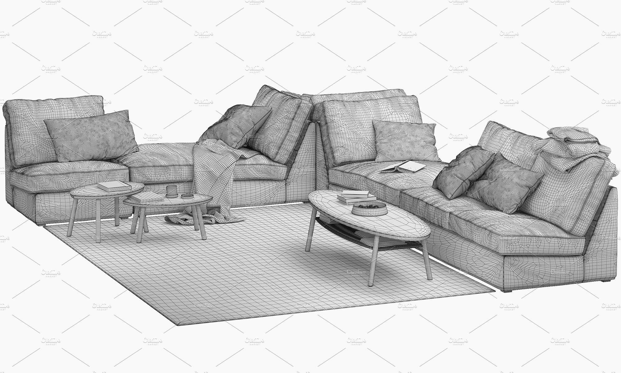 Ikea KIVIK corner modular sofa SystemcorrectlyUnits