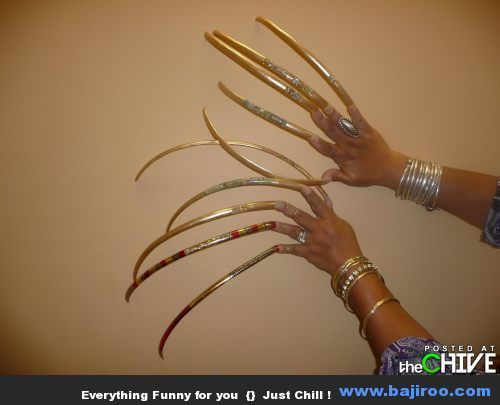 really long fingernails funny people with long nails in ... - photo#25